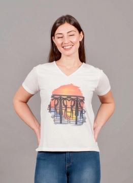 t-shirt a V 1