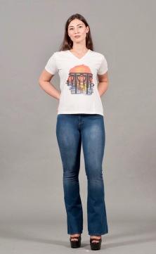t-shirt a V 2