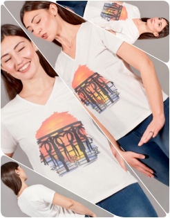 t-shirt a V COLLAGE