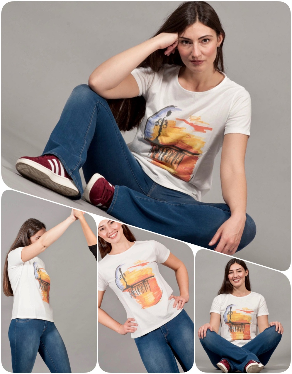 t-shirt girocollo COLLAGE